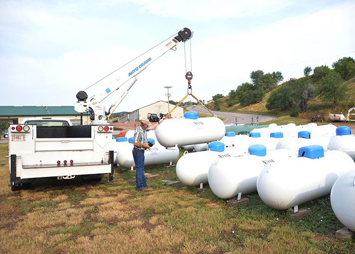 Nelson's Oil & Gas, Inc Propane Yard with Employee